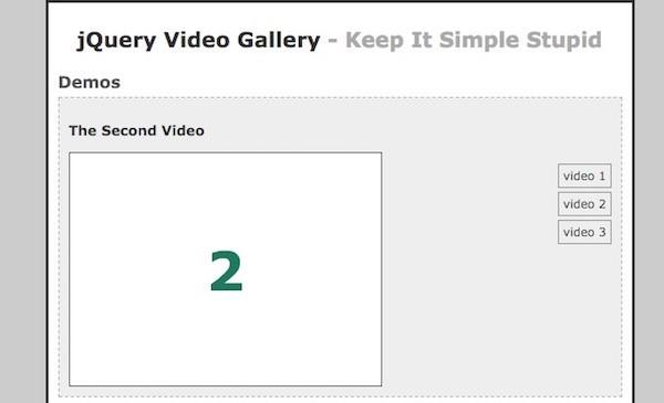 افزونه های ویدیویی jquery