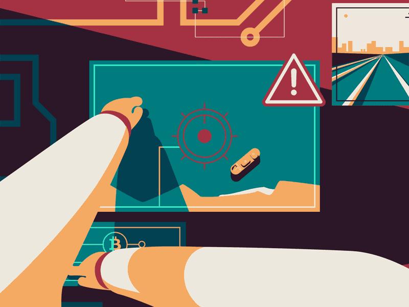 انیمیشن در مورد سیستم های امنیتی سایبری توسط آژانس تصویر زمینه