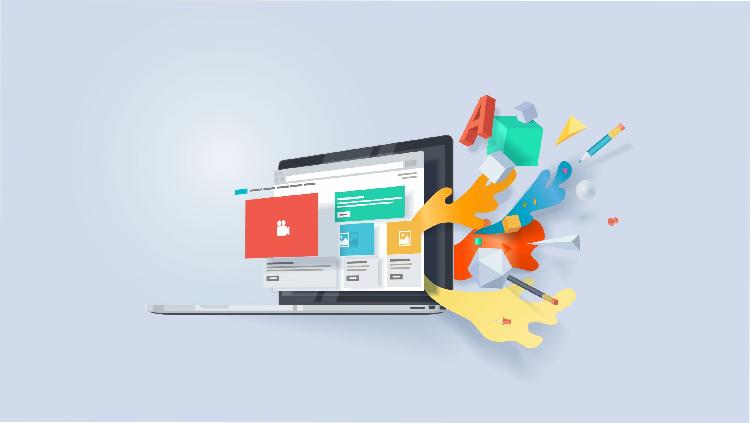 طراحی UI سایت در آموزش تک