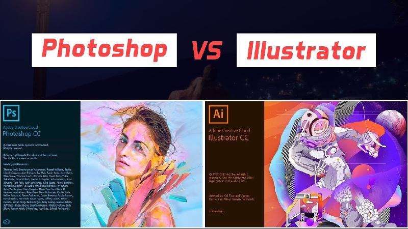 مقایسه ایلوستریتور و فتوشاپ در آموزش تک