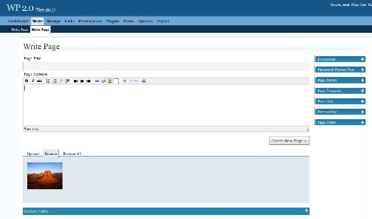 ویژگیهای نسخه 2.0 وردپرس در آموزش تک