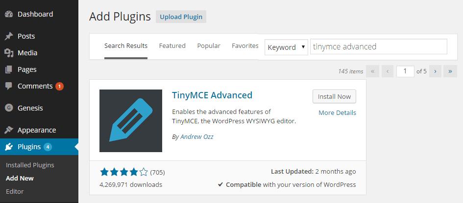 ویژگیهای افزونه TinyMCE در آموزش تک