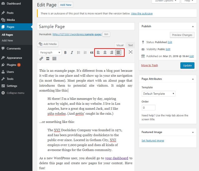 آشنایی با تفاوتهای افزونه TinyMCE وردپرس با ویرایشگر متن در آموزش تک
